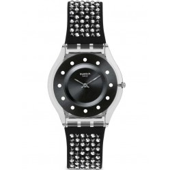 Swatch Ladies Lights On Strap Watch SFM128