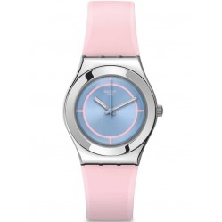 Swatch Ladies Rose Punch Strap Watch YLS182