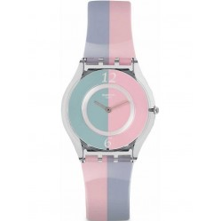 Swatch Ladies Fond De Teint Multicoloured Plastic Strap Watch SFK398