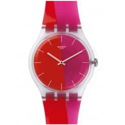 Swatch Unisex Lampoonia Strap Watch SUOK117