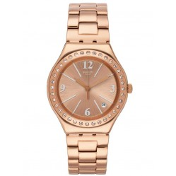 Swatch Allurissime Rose Gold Plated Bracelet Watch YGG409G