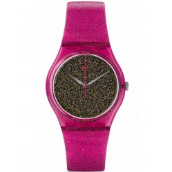 Swatch Nuit Rose Strap Watch GP149