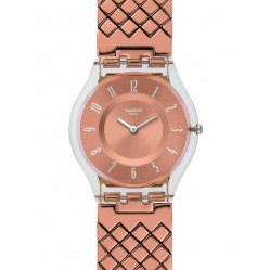 Swatch Pink Cushion Bracelet Watch SFE110GA