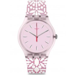 Swatch Fleurie Floral Pink Watch SUOP109