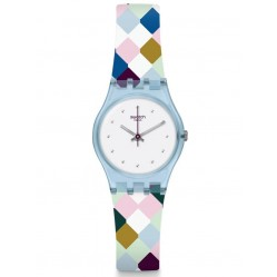 Swatch Ladies Arle-Queen Multicolour Rubber Strap Watch LL120