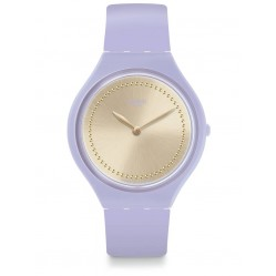 Swatch Skinlavande Lavender Rubber Strap Watch SVOV100