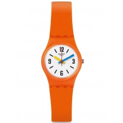 Swatch Ladies Sorange Orange Rubber Strap Watch LO114