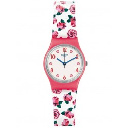 Swatch Ladies Spring Crush Floral Rubber Strap Watch LP154
