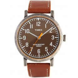 Timex Originals Mens Brown Leather Watch T2P507