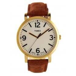 Timex Originals Unisex Brown Leather Watch T2P527