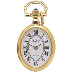 Woodford Gold Plated Oval Pendant Watch 1209