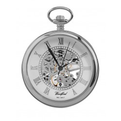 Woodford Chrome Skeletal Pocket Watch 1084