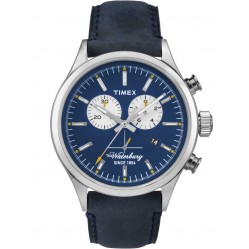 Timex Waterbury Mens Blue Chronograph Strap Watch TW2P75400