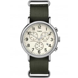 Timex Originals Mens Chronograph Green Strap Watch TW2P71400