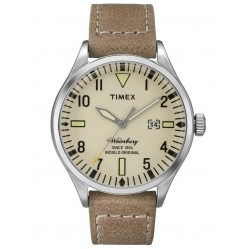 Timex Waterbury Mens Leather Strap Watch TW2P83900