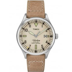 Timex Waterbury Mens Leather Strap Watch TW2P84500