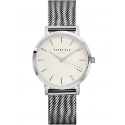 ROSEFIELD Ladies Silver Plated Tribeca Mesh Watch TWS-T52