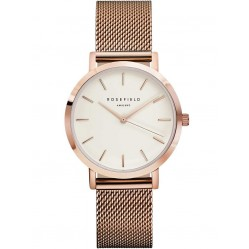 ROSEFIELD Ladies Rose Gold Plated Tribeca Mesh Watch TWR-T50