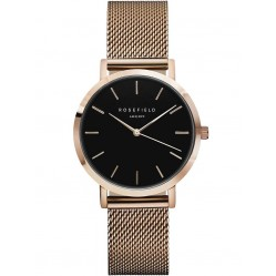 ROSEFIELD Ladies Rose Gold Plated Tribeca Mesh Watch TBR-T59
