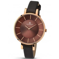 Accurist Ladies Leather Strap Watch 8088