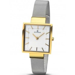 Accurist Ladies Two Tone Square Mesh Bracelet Watch 8131