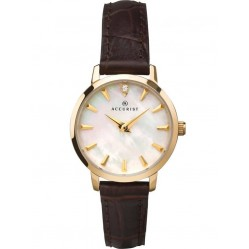 Accurist Ladies Gold Plated Mother Of Pearl Watch 8229