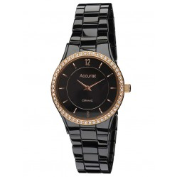 Accurist Ladies Black Ceramic Watch LB1750B