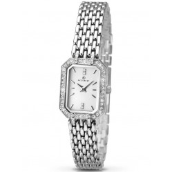 Accurist Ladies Silver Stone Set Bracelet Watch 8061