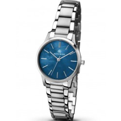 Accurist Ladies Stainless Steel Blue Mother Of Pearl Bracelet Watch 8100