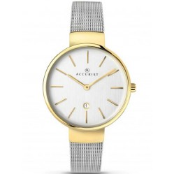Accurist Ladies Two Tone Mesh Bracelet Watch 8125