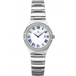 Accurist Ladies Stone Set White Watch 8203