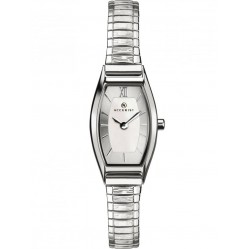 Accurist Ladies Stainless Steel Curved Silver Dial Expandable Bracelet Watch 8276