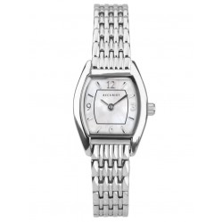 Accurist Ladies Classic Mother Of Pearl Dial Tonneau Bracelet Watch 8325