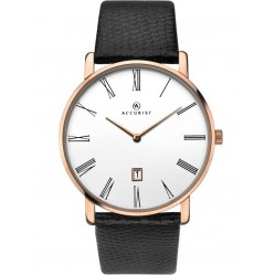 Accurist Mens Leather Strap Watch 7183