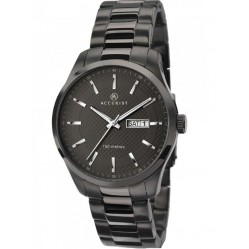 Accurist Mens Gunmetal Bracelet Watch 7058