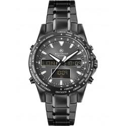 Accurist Mens Stainless Steel Dual Display Bracelet Watch 7102