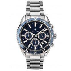 Accurist Mens Signature Chronograph Blue Dial Bracelet Watch 7230