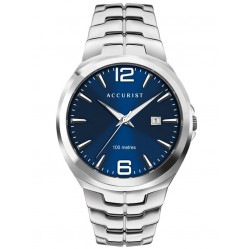 Accurist Mens Signature Classic Blue Dial Bracelet Watch 7329