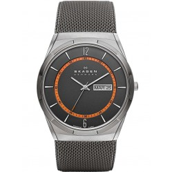 Skagen Aktiv Titanium Grey Mesh Black And Orange Watch SKW6007