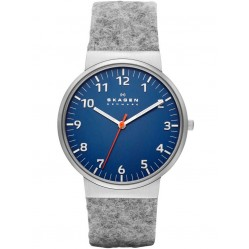 Skagen Mens Grey Strap Watch SKW6092
