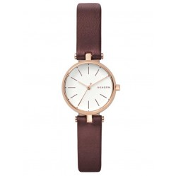 Skagen Mens Signatur T-Bar Rose Gold-plated Strap Watch SKW2641