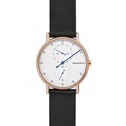 Skagen Mens Signatur 1-Hand Rose Gold-plated Strap Watch SKW6390