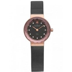 Skagen Ladies Rose Gold Plated Mesh Watch 456SRM