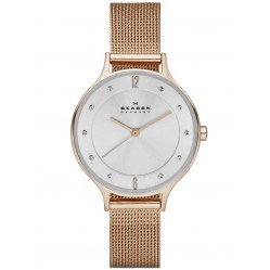 Skagen Ladies Anita Rose Gold Plated Bracelet Watch SKW2151