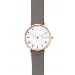 Skagen Ladies Hald Grey Leather Watch SKW2674
