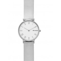 Skagen Ladies Hald White Mesh Bracelet Watch SKW2712