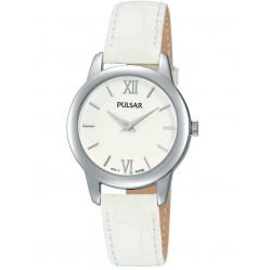 Pulsar Ladies White Leather Watch PRW019X1