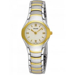 Pulsar Ladies Two Tone Bracelet Watch PEG406X1