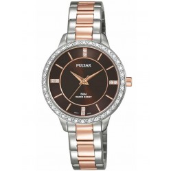 Pulsar Ladies Two Tone Stone Set Bracelet Watch PH8217X1