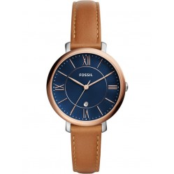 Fossil Ladies Blue Jacqueline Leather Strap Watch ES4274